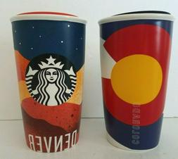 2 coffee lidded tall ceramic denver
