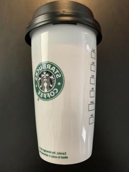 2009 Starbucks Coffee Old Logo Double Wall Ceramic Travel Cu