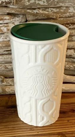 Starbucks 2016 Travel Tumbler Cup Lid White Cable Knit Sweat