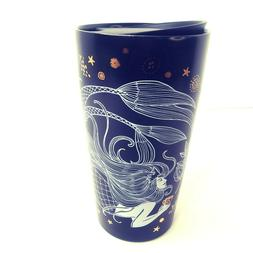 "Starbucks 2019 Mermaid Ceramic Travel Mug 8"" Sippy Lid 12 Oz"