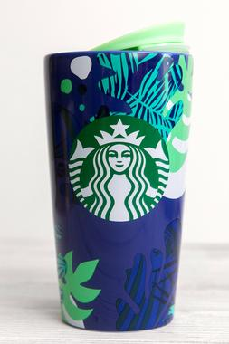STARBUCKS - 2020 BLUE GREE TROPICAL 12oz  NEW - TRAVEL MUG W