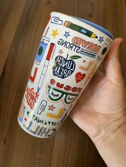 Starbucks 2020 Summer Ceramic Travel Mug Teacher School Emoj