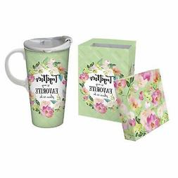 Cypress Home Ceramic Travel Cup, 17 Oz, With box, Together i