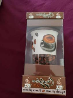 Collectible Ceramic Travel Coffee Mug with Lid