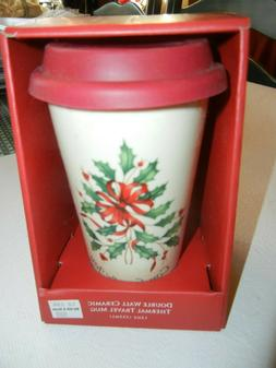 Lenox Double Wall Ceramic Thermal Travel Mug 12 oz NWT