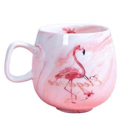 Flamingo Coffee Mugs Ceramic Mug Travel Cup Cute Cat Foot In