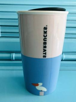 HTF NEW 2017 Starbucks  FLORIDA Sun Ceramic 12oz Travel Tumb