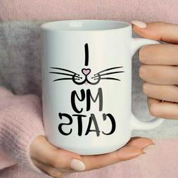 I Love My Cats Coffee Mug or Cup, Cat Gift, Cat Owner Gift,