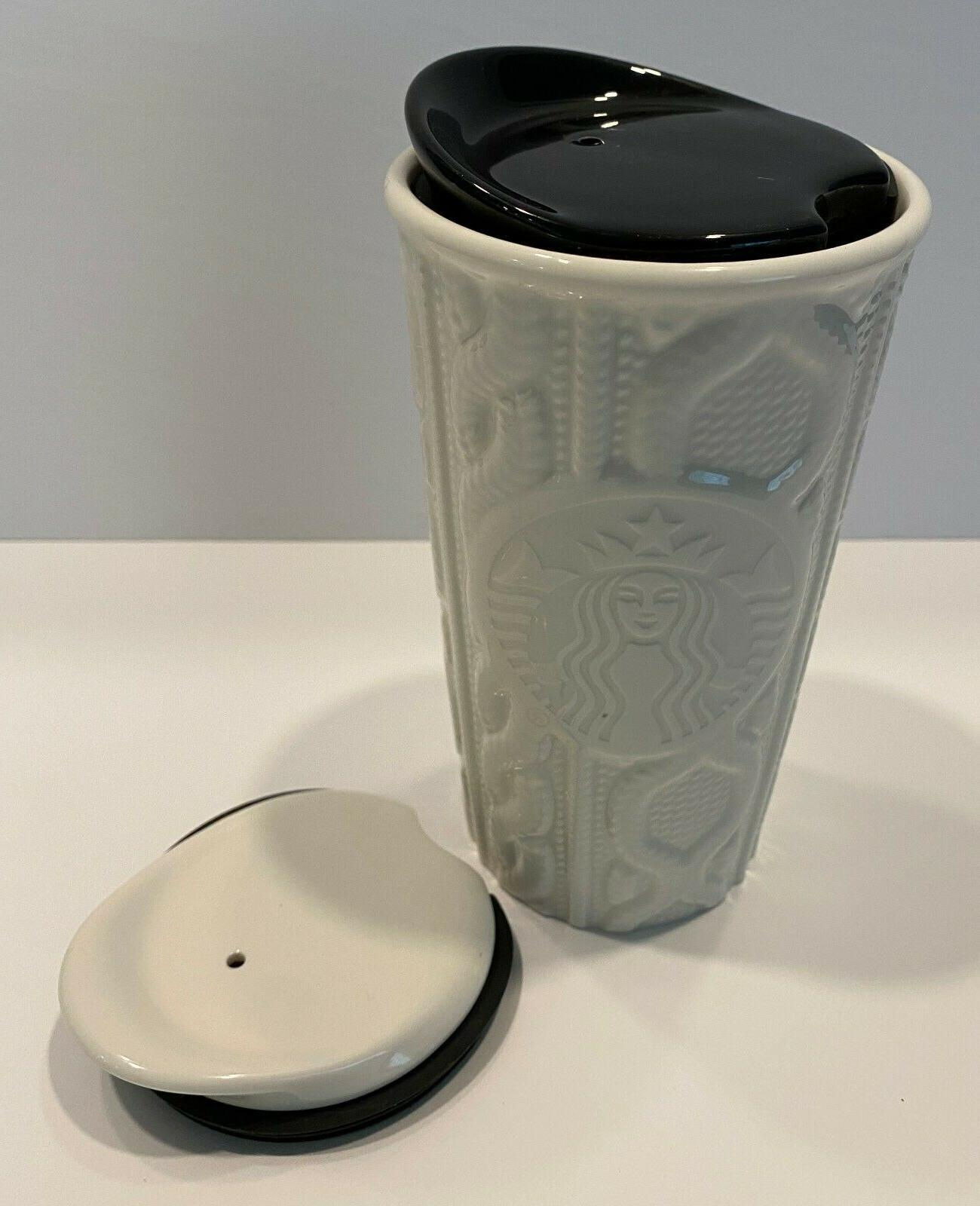 STARBUCKS Travel Cup Cable Knit Sweater Lids
