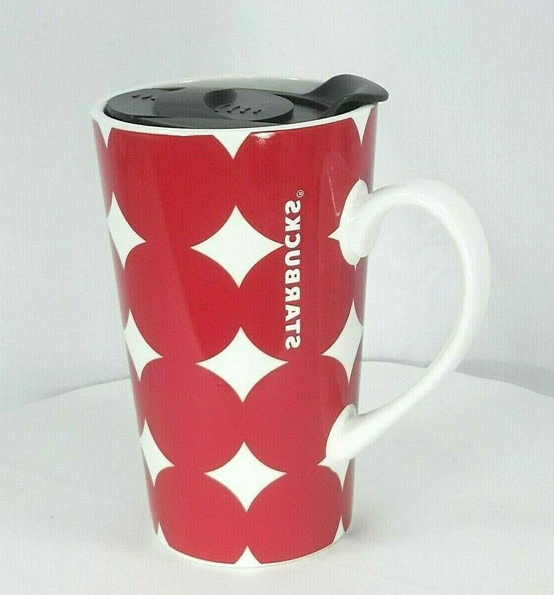 2018 holiday coffee travel mug cup red