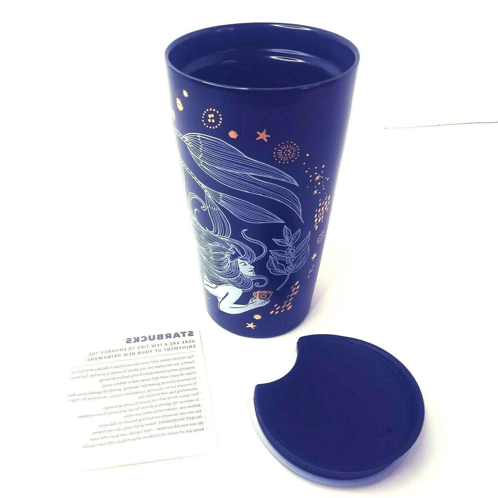 """Starbucks 2019 Mermaid Ceramic Travel 8"""" Sippy Lid Collectible"""