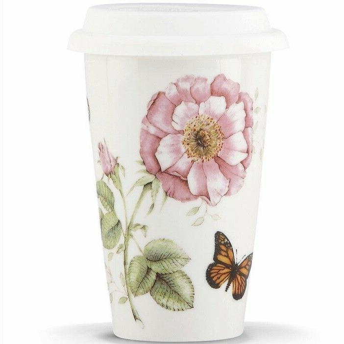 butterfly meadow thermal ceramic travel coffee tea