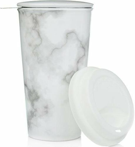 ceramic travel mug with lid marble double