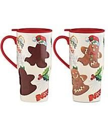 Lenox Heat Changing Travel Mug Ginger Bread Man