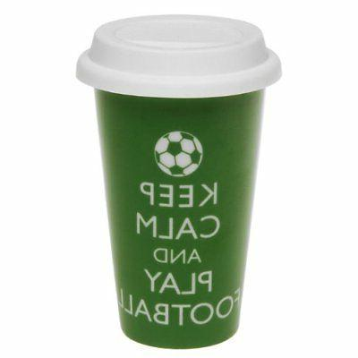 keep calm and play football green insulated