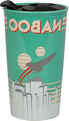 naboo ceramic travel tumbler mug fun retro