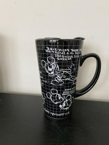 sketchbook mickey mouse ceramic travel coffee mug