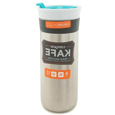 Triple Insulated Travel Mug Stainless Steel Ceramic Tumbler