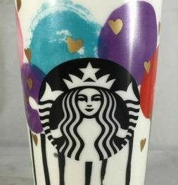 NEW Starbucks GOLD HEARTS BALLOON LOLLIPOP Ceramic Coffee Tr