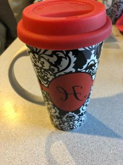 New To Go Travel Mug Ceramic With Silcone Lid And Handle Ini