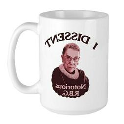 CafePress Notorious RBG P Stainless Steel Travel Mugs Large