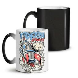 Rocket Travel Moon Space NEW Colour Changing Tea Coffee Mug