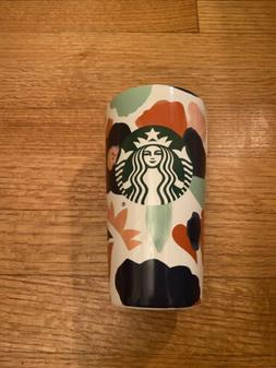 Starbucks Summer 2020 Ceramic Travel Mug- Floral Pattern - N