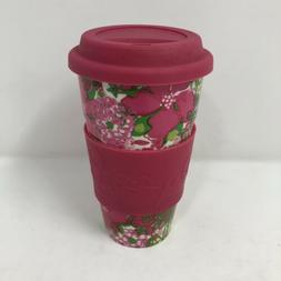 Lilly Pulitzer Travel Mug With Sleeve Floral Print Ceramic C
